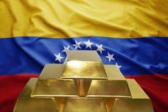 Венесуэльские золотые резервы стоковое фото