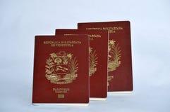 Венесуэльские пасспорты стоковая фотография