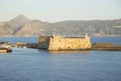 Венецианская крепость Koules в ираклионе стоковые фотографии rf