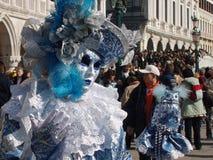 Венецианская маска в бирюзе и silvernice стоковая фотография