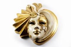 Венецианская маска - золотая маска Стоковые Фотографии RF