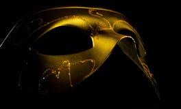 Венецианская маска золота Стоковое Изображение RF