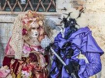 Венецианская сцена костюмов Стоковое Изображение RF