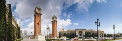 Венецианские башни в Placa de Espana, Барселоне Стоковая Фотография