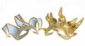 2 венецианских маски масленицы Стоковая Фотография