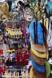 Венецианские маски и Handpainted марионетки в Венеции, Италии Стоковые Изображения