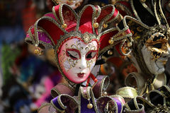 Венецианские маски масленицы для продажи Стоковые Фотографии RF
