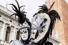 Венецианские маски масленицы Стоковая Фотография