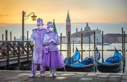 Венецианские маски масленицы Стоковые Фото