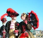 Венецианские пары Стоковая Фотография