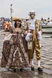 Венецианские пары Стоковые Изображения