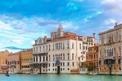 Венецианский готический дворец на грандиозном канале, Венеции Стоковое Изображение RF