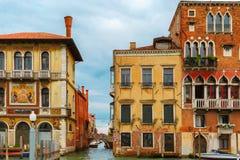 Венецианский готический дворец на грандиозном канале, Венеции Стоковые Изображения RF