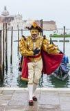 Венецианский костюм Стоковое Изображение