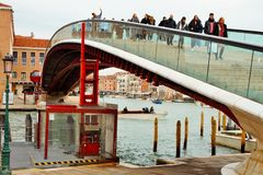 Венецианский мост caratrava ландшафта стоковое изображение rf