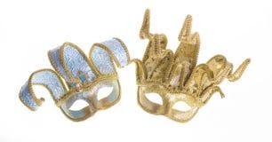 2 венецианских маски масленицы Стоковые Изображения