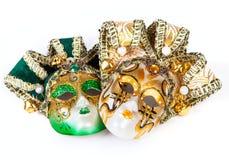 2 венецианских маски Стоковая Фотография RF