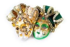 2 венецианских маски Стоковые Изображения RF