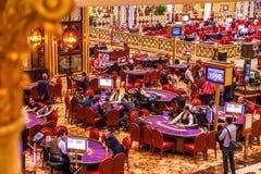 Венецианское казино крытое стоковые изображения