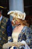 Венецианское элегантное платье, Италия, Европа, конец вверх Стоковые Фотографии RF