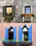 Венецианское Windows, Италия Стоковые Изображения