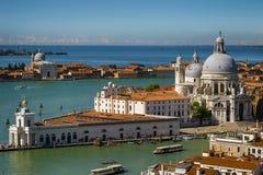 Венеция, взгляд сверху, красивый вид Стоковое Изображение