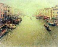 Венеция - винтажное фото Стоковые Изображения RF