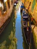 Венеция - гондолы на грандиозном канале Стоковая Фотография RF
