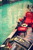 Венеция. гондолы. художественное произведение в типе картины Стоковая Фотография RF
