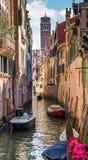 Венеция Городской канал Стоковое Изображение RF