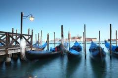 Венеция, грандиозный канал во время во время захода солнца Стоковая Фотография