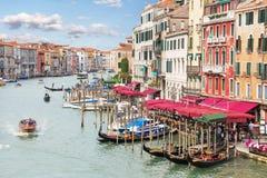 Венеция Грандиозный канал Стоковая Фотография