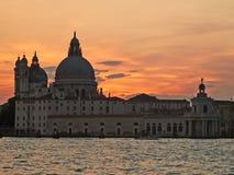 Венеция: заход солнца Стоковое Изображение RF