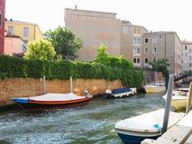 20 06 2017, Венеция, Италия: Взгляд исторических зданий и каналов Стоковое Изображение RF