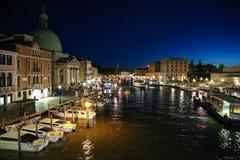 Венеция, Италия, взгляд от degli Scalzi Ponte Стоковые Фотографии RF