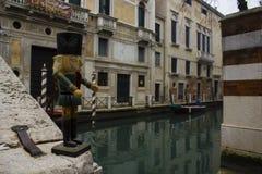 Венеция Италия детализирует канал Стоковая Фотография