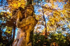 ВЕНЕЦИЯ, ИТАЛИЯ - 19-ОЕ АВГУСТА 2016: Известные статуи & скульптуры Венеции в историческом городе северной Италии 19-ого августа  Стоковое Изображение RF