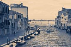 Венеция, Италия - 14-ое августа 2017: Красивые классические здания o Стоковая Фотография RF