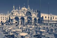 Венеция, Италия - 14-ое августа 2017: Собор Сан Marco, собора Венеции Стоковые Фото