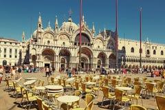 Венеция, Италия - 14-ое августа 2017: Собор Сан Marco, собора Венеции Стоковое фото RF