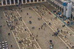 Венеция, ИТАЛИЯ - октябрь 2017: Вид с воздуха аркады Сан Marco и колокольни в Венеции, одном из самых известных ориентир ориентир Стоковые Изображения