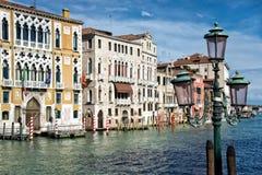Венеция, Италия, грандиозный канал Стоковое Изображение RF