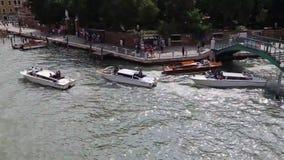 Венеция, Италия - шлюпки видеоматериал