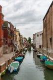 Венеция, канал, шлюпки, места куда туристы редко бродяжничают, Италия стоковые фотографии rf
