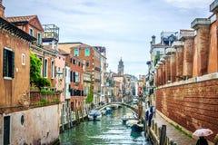Венеция - каналы и мосты Стоковые Фотографии RF