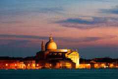 Венеция на заходе солнца Стоковые Фотографии RF
