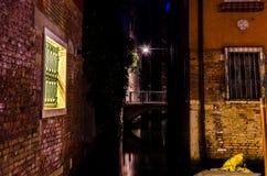 Венеция на ноче Стоковое Изображение