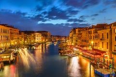 Венеция на ноче Стоковые Изображения