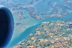 Венеция от самолета Стоковые Фото