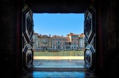 Венеция, портальная к грандиозному каналу Стоковое Изображение RF